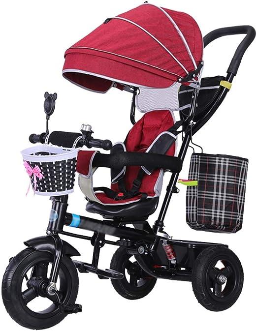 Cochecito para niños 4 en 1 Trike Carrito para bebé en Bicicleta ...