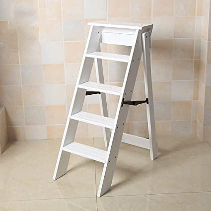 Amazon.com: Solid Wood Five Stairs U0026 Stools Multi Storey ...