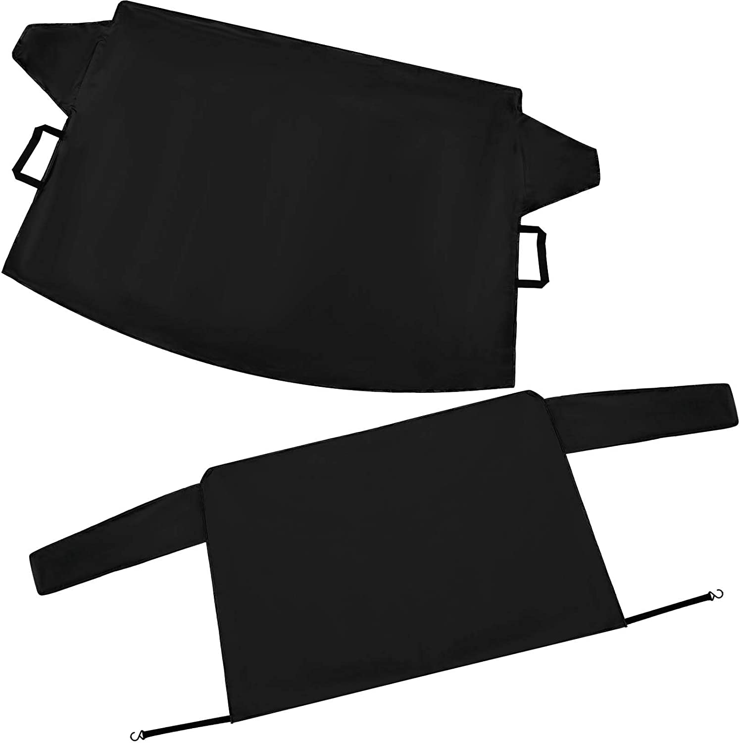 2 Pieces Car Windshield Snow Cover Oxford Frost Shield Vehicle Ice Protector Waterproof Windshield Cover for Most Vehicles Cars Trucks and SUV