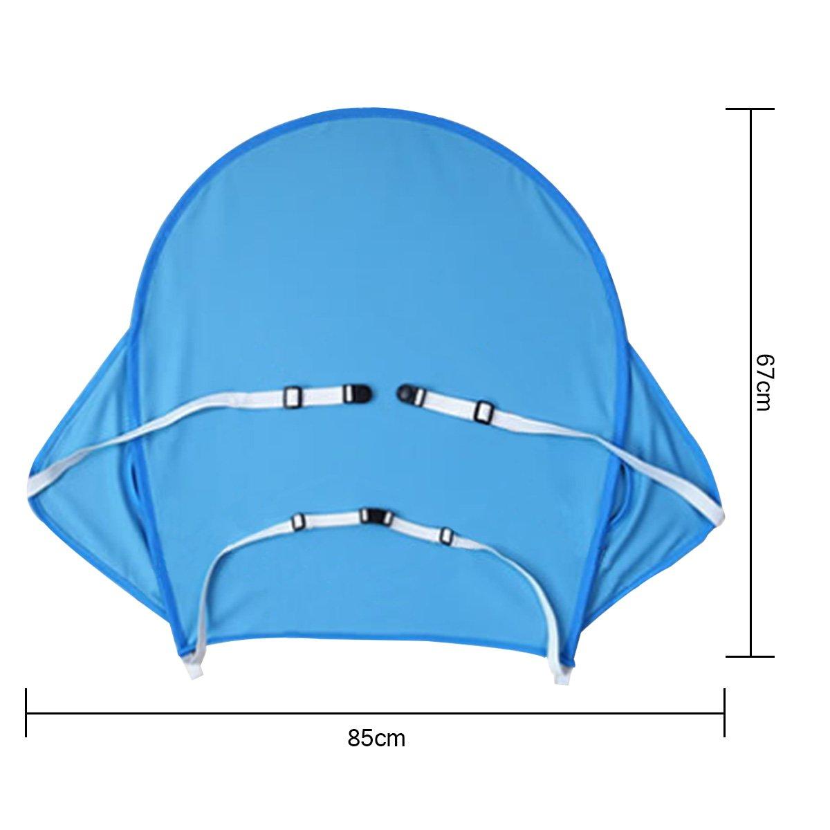 protector solar parasol negro parasol para cochecito de beb/é AUVSTAR Funda para cochecito de beb/é toldo para cochecito de beb/é tiene una excelente protecci/ón UV.(azul)