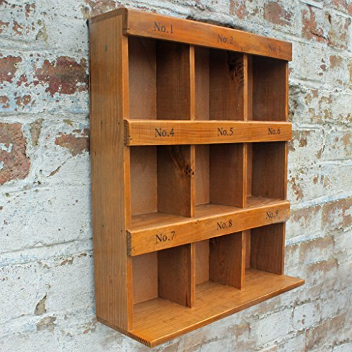 Wall Cabinet 12 Pigeon Hole Wooden Wall Unit Storage ...