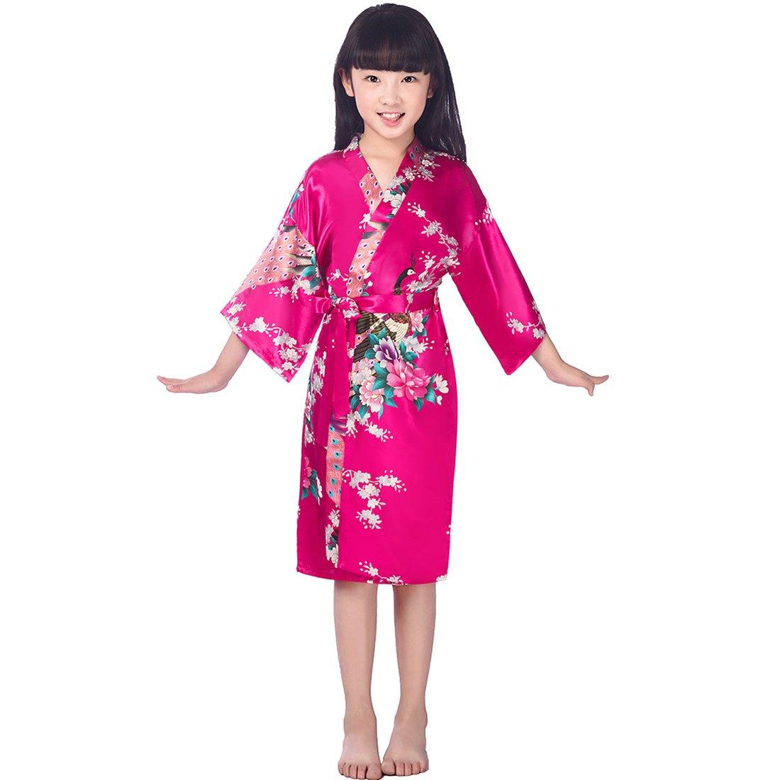 Wonderfit las cumpleaños niñas mancha Kimono Pavo Real Robe mancha ...
