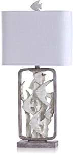 Tropical Fish Two-Tone Cream and Gray Table Lamp