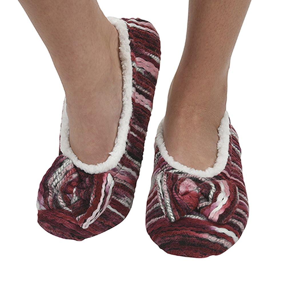 Womens Ballerina Artisan Yarn Sherpa Snoozies Footcoverings