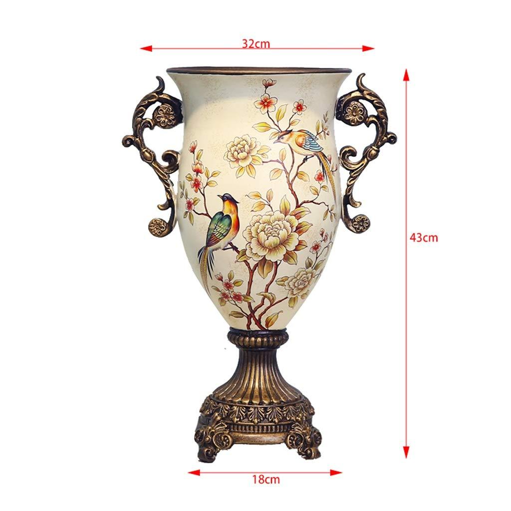 花キツネヨーロッパスタイル農村セラミックス花瓶装飾リビングルーム家の装飾結婚ギフト anQna (色 : 2) B07SCYLM2R 2