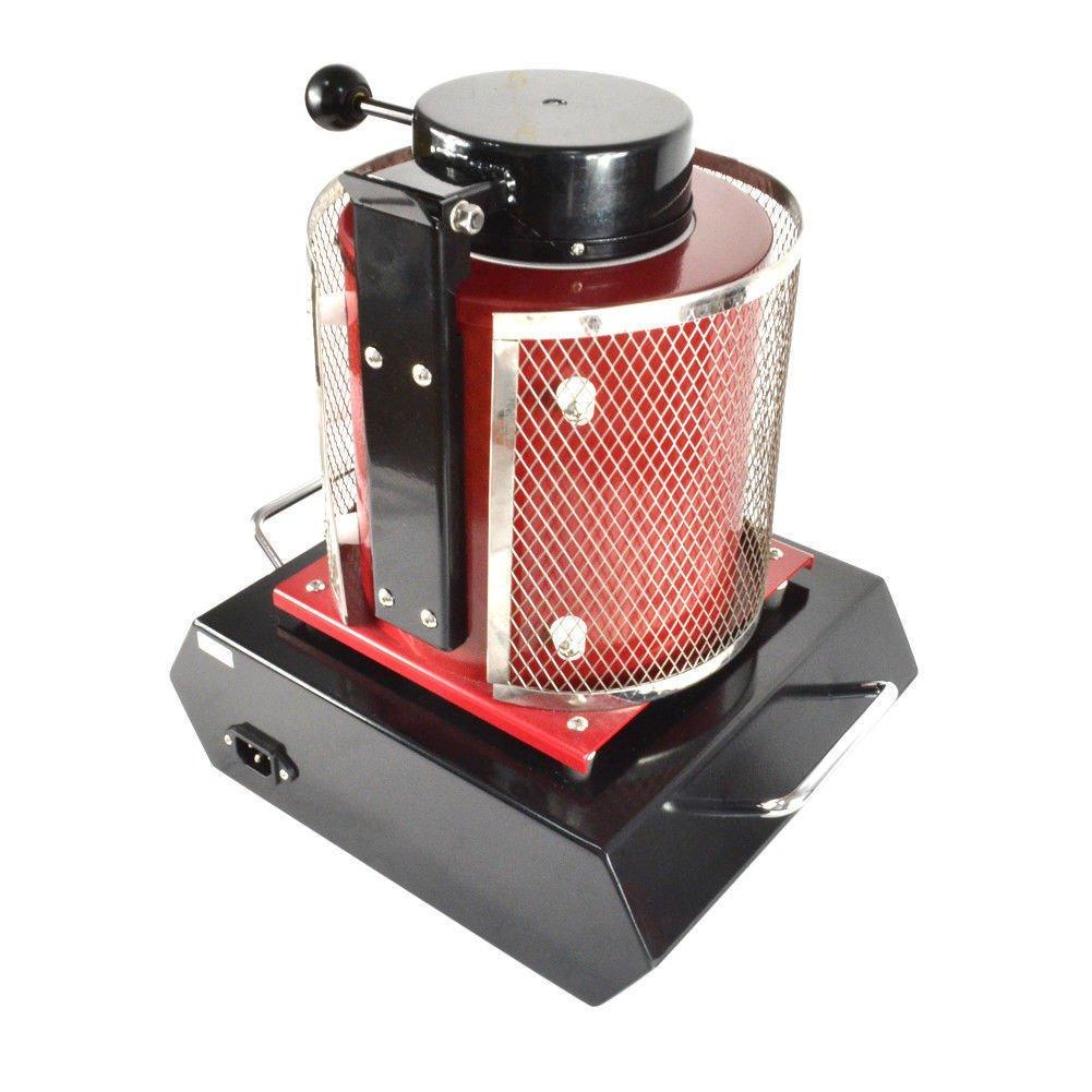 Black Automatic Electric Melting Furnace,2KG Digital Melting Furnace Metal Kiln Refining Alloy Aluminum Gold Silver 110V