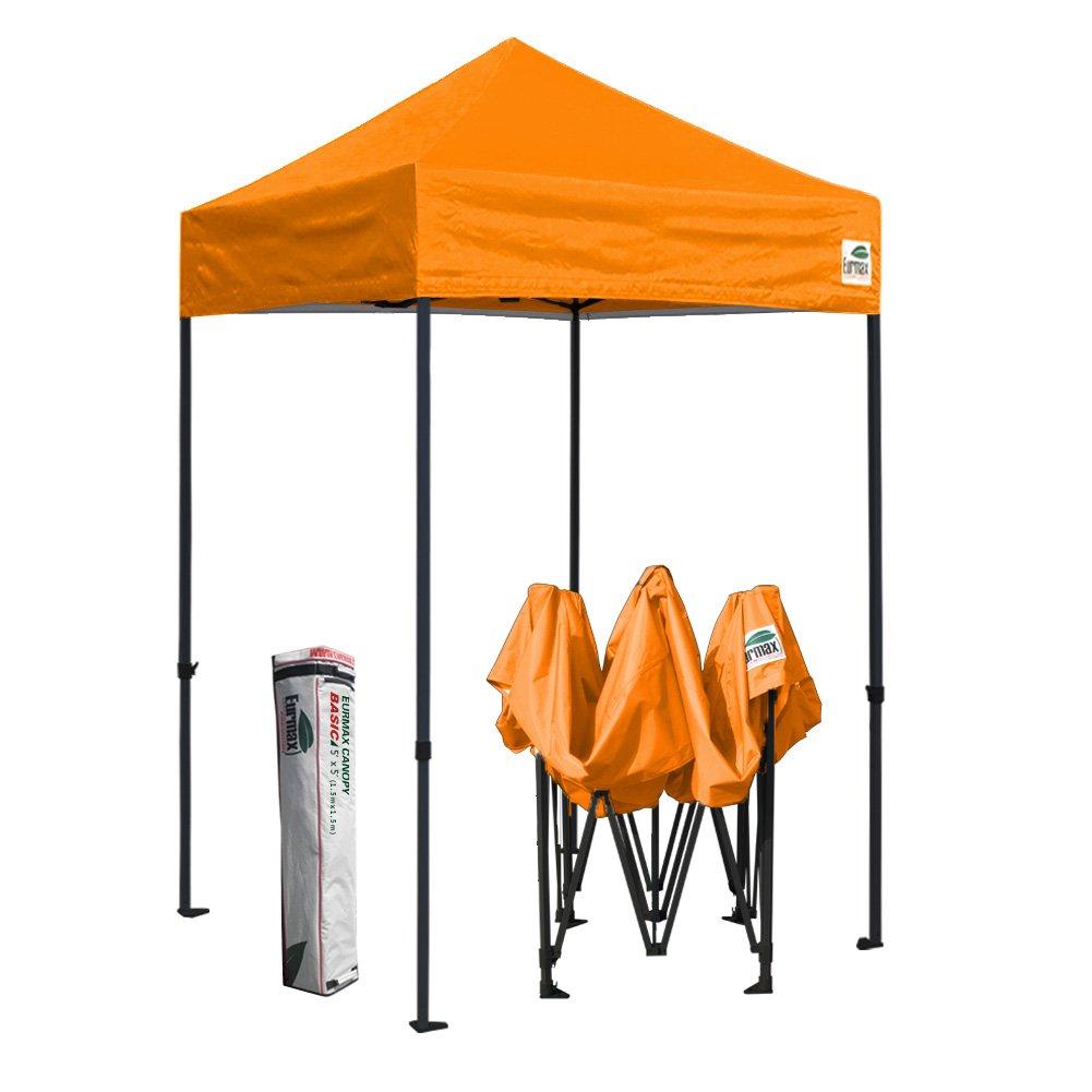 Eurmax基本5 x 5テントEZ Pop UpキャノピーCommercialパティオパーティーウェディングGazebo with Carryバッグ B00EI3TC68 オレンジ オレンジ