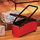 """Bits and Pieces - Newspaper Briquet Maker-Heavy Duty Steel Press Paper Log Maker - Brick Press measures 10-1/4"""" long x 5-1/4"""""""
