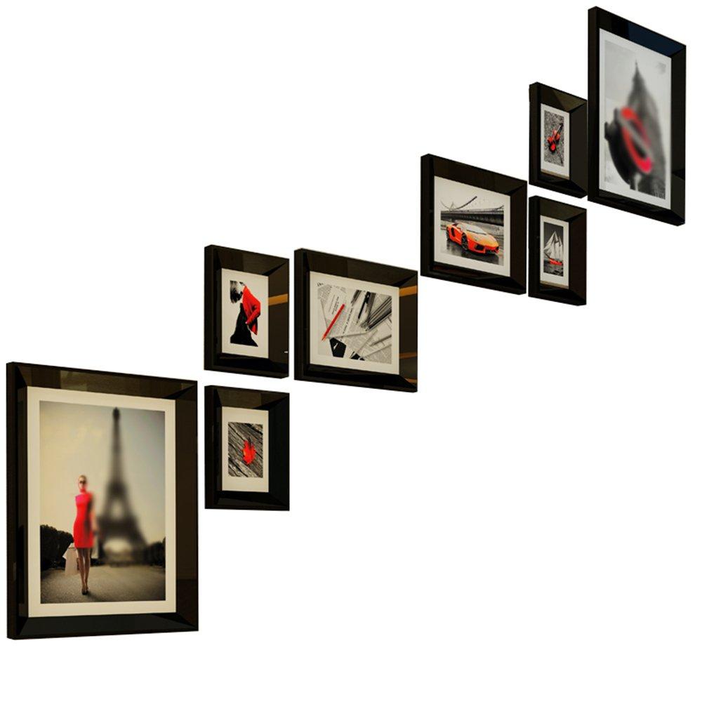 Picture Frames-sam Uncle SamLI@ Staircase photo wall/simple modern photo frame wall/portfolio photo wall/photo frame wall 8 box 186 155cm