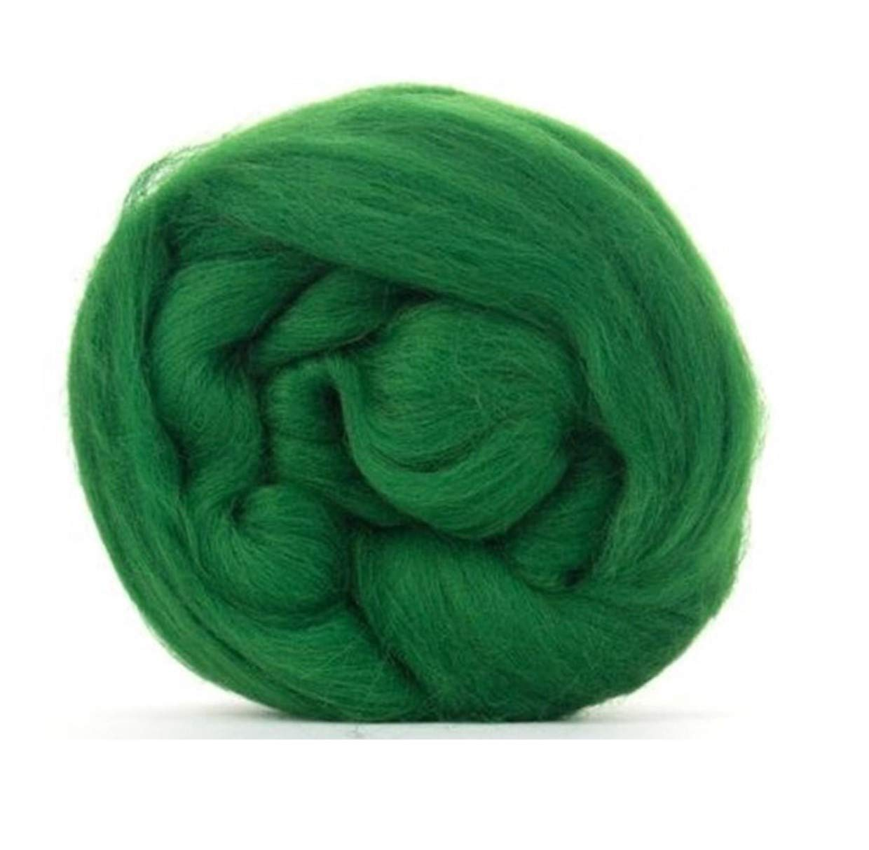 Forest Green Merino Wool roving/Tops - 50gm. Great for Wet Felting/Needle Felting, and Hand Spinning Projects.