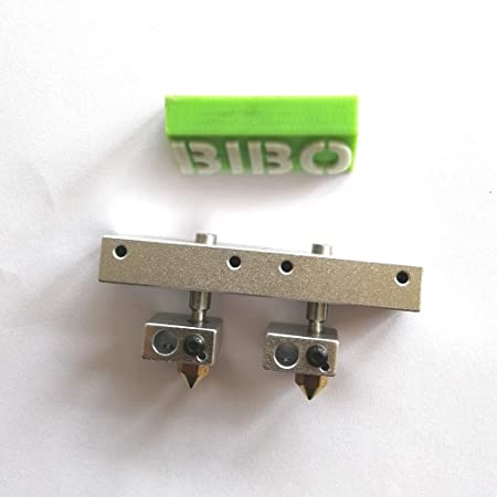 2 hot Ends and 1 Mount Block for BIBO 3D Printer