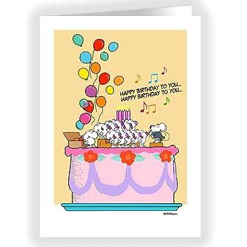 Amazon.com: Cute tarjeta de felicitación de cumpleaños ...