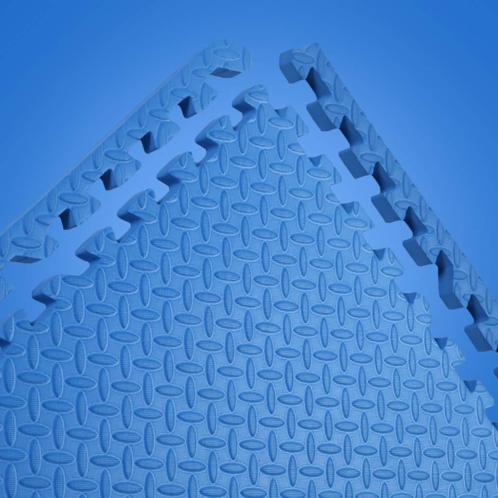 LFY Puzzle Foam Spielmatte Volltonfarbe für Kinder - 4 6 8 12 16 Fliesen (Farbe   Gelb, größe   16 Piece) Blau 12 piece