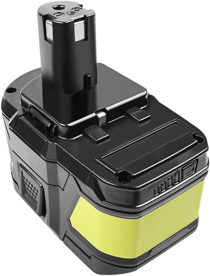 Bonacell - Batería de repuesto para herramientas P108 Ryobi (18 V, 9000 mAh, para Ryobi P108 RB18L50 RB18L40 RB18L25 RB18L15 RB18L13 P108 P107 P122 P104 P105 P102 P103)