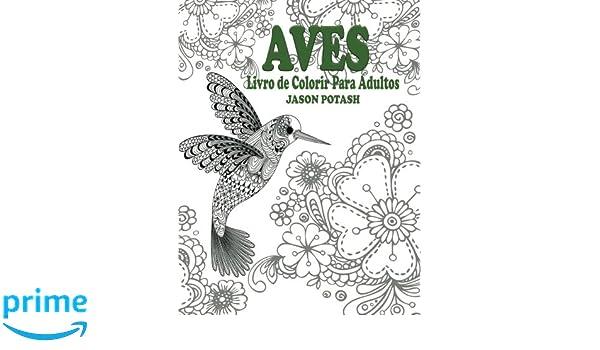 Aves Livro De Colorir Para Adultos O Alívio De Tensões