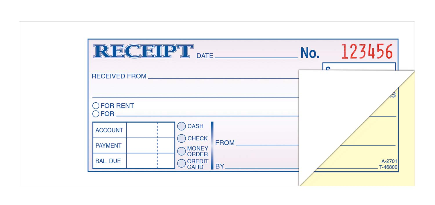 TOPS Money/Rent Receipt Book, 2-Part, Carbonless, 2.75 x 8.5 Inches, 100 Sets per Book (46800) by Tops (Image #1)