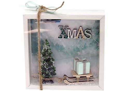 Geldgeschenke Weihnachten.Zauberdeko Geldgeschenk Verpackung Weihnachten Gutschein Schlitten Xmas Geschenk Mint