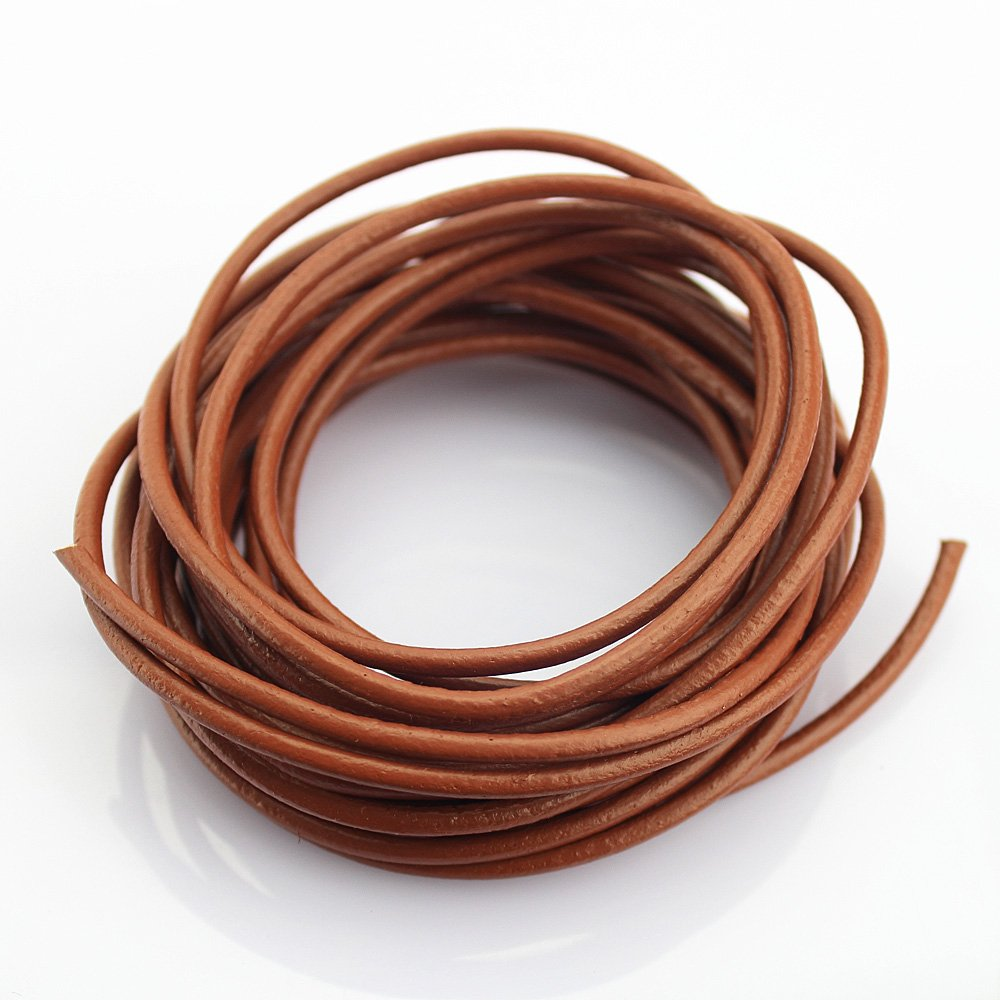 LolliBeads Heavy Duty Strong 4 mm Genuine Leather Cord Braiding String for Craft