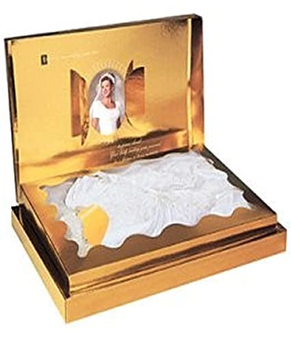 Acid Free Wedding Dress Premium Preservation Box Bridal Keepsafe (Gold)