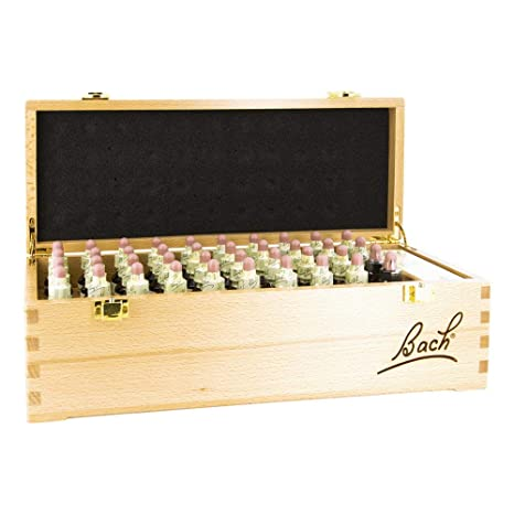 Bach Flower Remedies Set, wooden, 40 x 20 ml, Set Flores de Bach en caja de madera