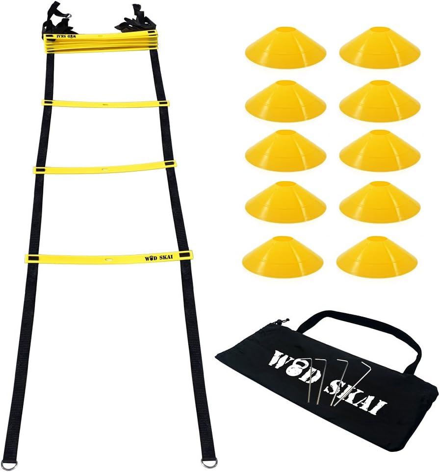 WOD SKAI Escalera de agilidad para entrenamiento Escalera para mejorar velocidad y agilidad,Velocidad escalera de agilidad agility ladder Entrenamiento Agilidad Velocidad para fútbol duradera: Amazon.es: Deportes y aire libre