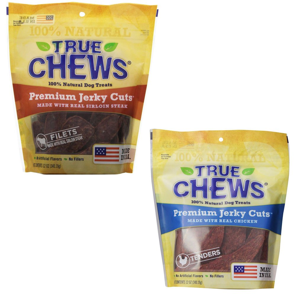 True Chews Jerky Fillet for Dogs, 2-12oz CHICKEN AND STEAK