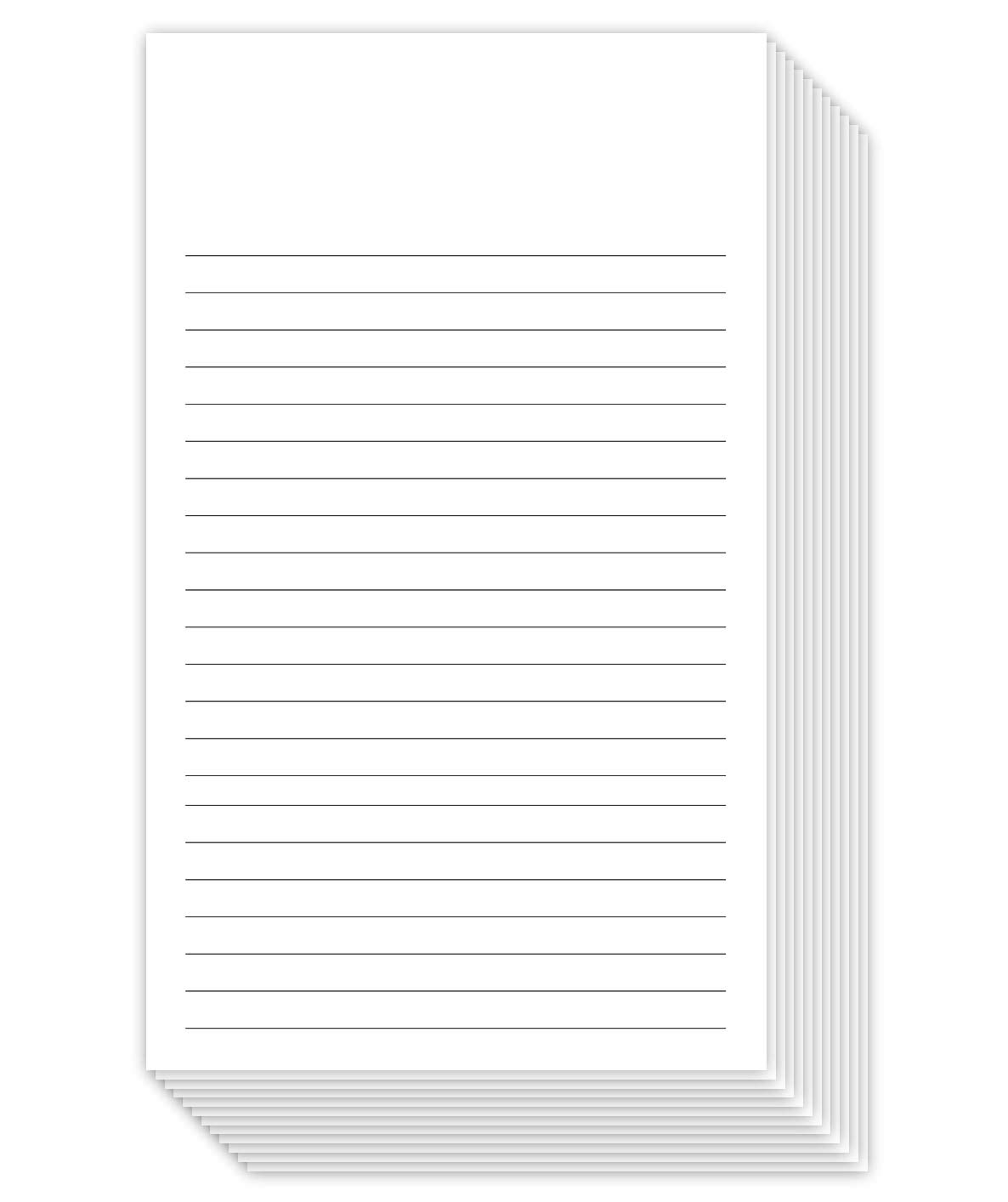 "White Ruled Vertical Index Note Cards, 3"" X 5"" Inches 