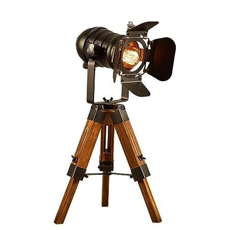 201803 Lámpara de escritorio creativa de madera de la cámara de la ...
