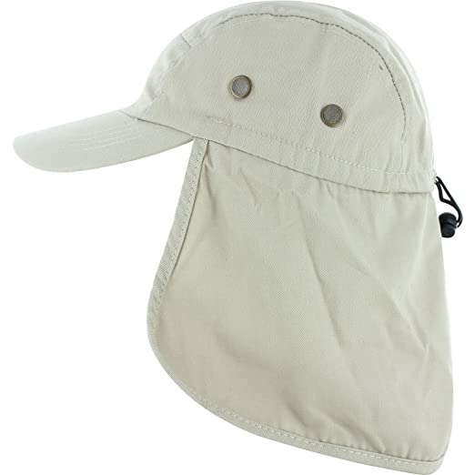 1668e316bf Amazon.com  DealStock Fishing Cap with Ear and Neck Flap Cover - Outdoor  Sun Protection  Clothing