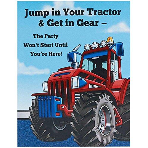BirthdayExpress Farm Tractor Invitations -