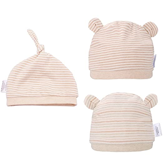 0e75de8f8 Folamer Newborn Hats Organic Cotton Top Knot Beanies for 0-12 Months Baby  Infant Cute Soft and Comfortable Hat
