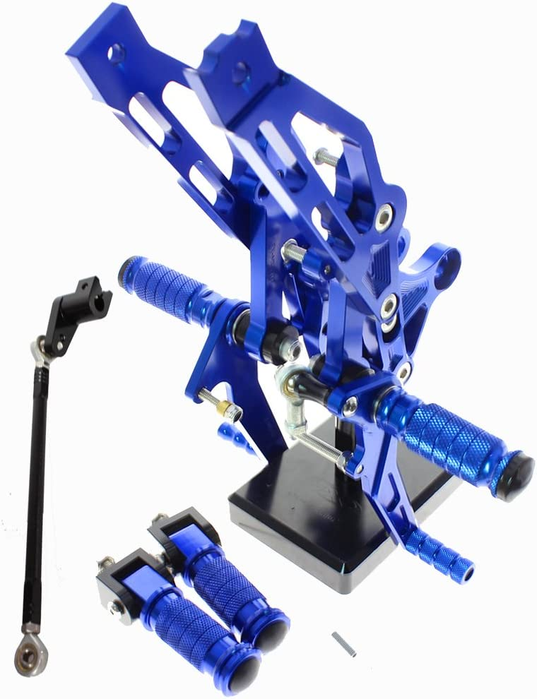 FXCNC Racing Grom Billet Motorcycle Rearset Foot Pegs Rear Set Footrests Fully Adjustable Foot Boards Fit For GROM MSX125 2012 2013 2014 2015 2016 Blue