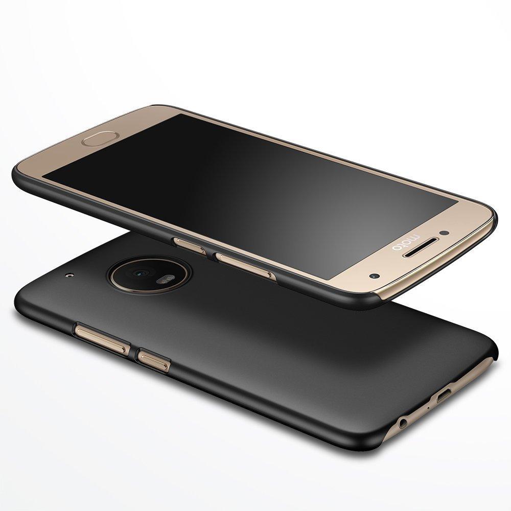 4bf03feade8 Almiao Funda Moto G5 Plus w/ [Moto G5 Plus Screen Protector Funda Protectora  de teléfono Delgada Minimalista Protector para Moto G5 Plus 5.5 Pulgadas  (Oro ...