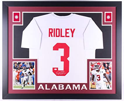 9c2399f7b Image Unavailable. Image not available for. Color  Calvin Ridley Signed  Alabama Crimson Tide 35x43 Custom Framed Jersey (JSA COA)