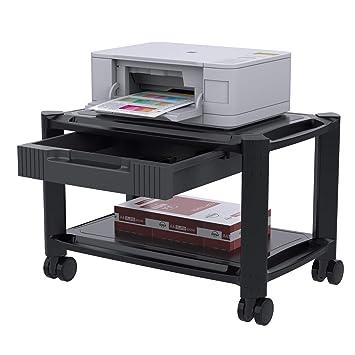 Bon HUANUO Support Pour Imprimante Chariot Pour Imprimante Sous Bureau Avec 4  Roues Roulantes Et Tiroir De