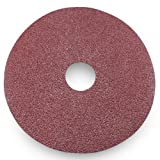 Black Hawk Aluminum Oxide Resin Fiber Discs, 24 Grit, 4.5-Inch Diameter x 7/8-Inch Arbor Hole, Pack of 25