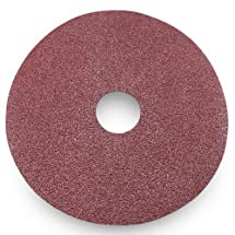 Black Hawk Aluminum Oxide Resin Fiber Discs, 60 Grit, 4.5-Inch Diameter x 7/8-Inch Arbor Hole, Pack of 25
