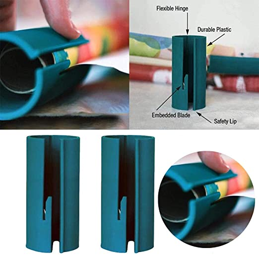 2Pcs Sliding Wrapping Paper Cutter Makes Cuts In Seconds Wrapping Paper Cutting