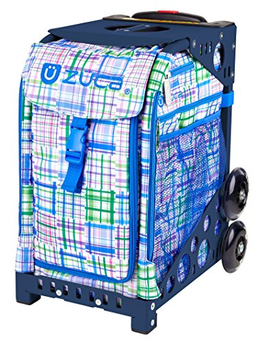Zuca Berry Patch Sport Insert Bag and Navy Blue Frame with Flashing Wheels by ZUCA