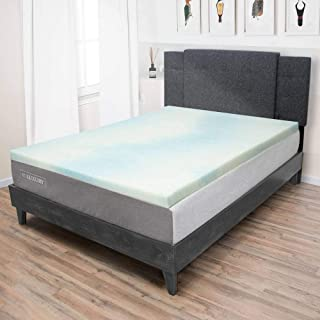 product image for Beautyrest 1.5 Inch Memory Foam Mattress Topper - Temperature Regulating Mattress Pad - 2 lb Density for High Support and High Response - CertiPUR-US Certified - Made In USA - Twin XL Size