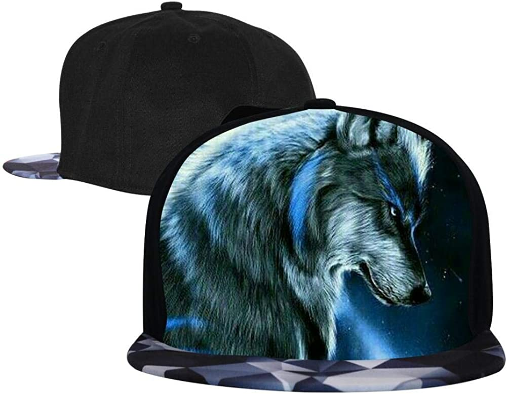 PASPTTO Colorful Wolves Wild Animal World Hip Hop Hat Mens Fashion Full Frame 3D Print Adjustable Truck Driver Baseball Cap