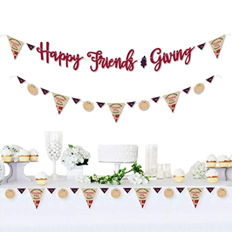big dot of happiness friends thanksgiving feast friendsgiving party letter banner decoration 36 banner