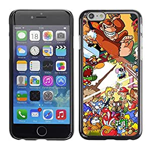 CaseCaptain Carcasa Funda Case - Apple Iphone 6 / Cool Video Game Donkey, Mario, Mash Up /