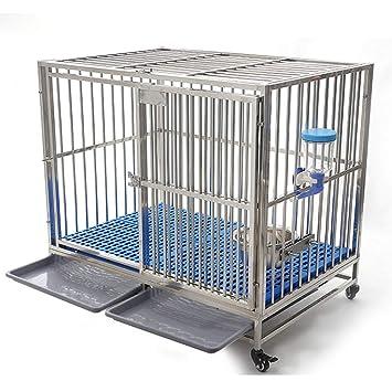 Jaula para Mascotas, Jaula para cercas de Animales, Jaula para Perros de Acero Inoxidable, Perro Grande, Suministros portátiles para Mascotas: Amazon.es: ...