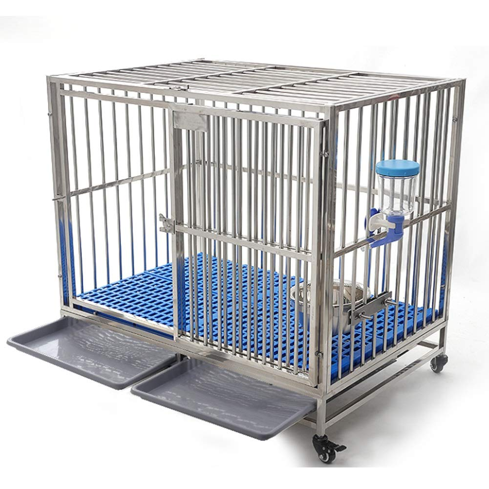 78×52×77cm Pet Playpen Animal Fence Cage, Stainless Steel Dog Cage Large Dog, Portable Pet Supplies