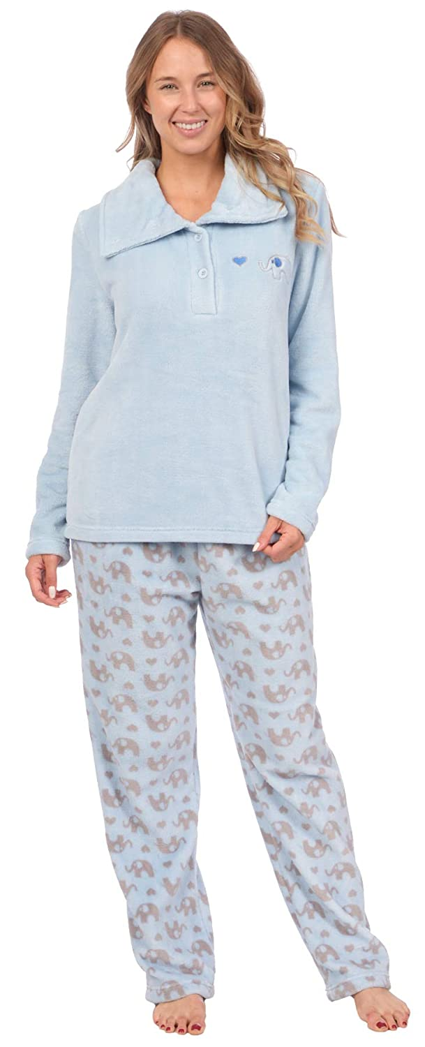 Patricia Women\'s Soft Minky Polar Fleece 2 Piece Pajama Sets