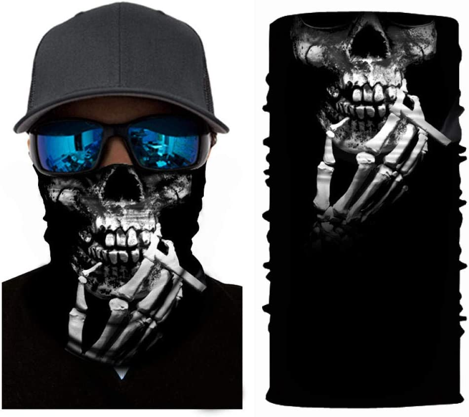 QIANWEIXI Nahtlose Bandanas 3D Sch/ädel Nahtlose Bandanas Punisher Hals Motorrad Motorrad Marvel M/änner Frauen Stirnband Wandern Magic Scarf Face Shield