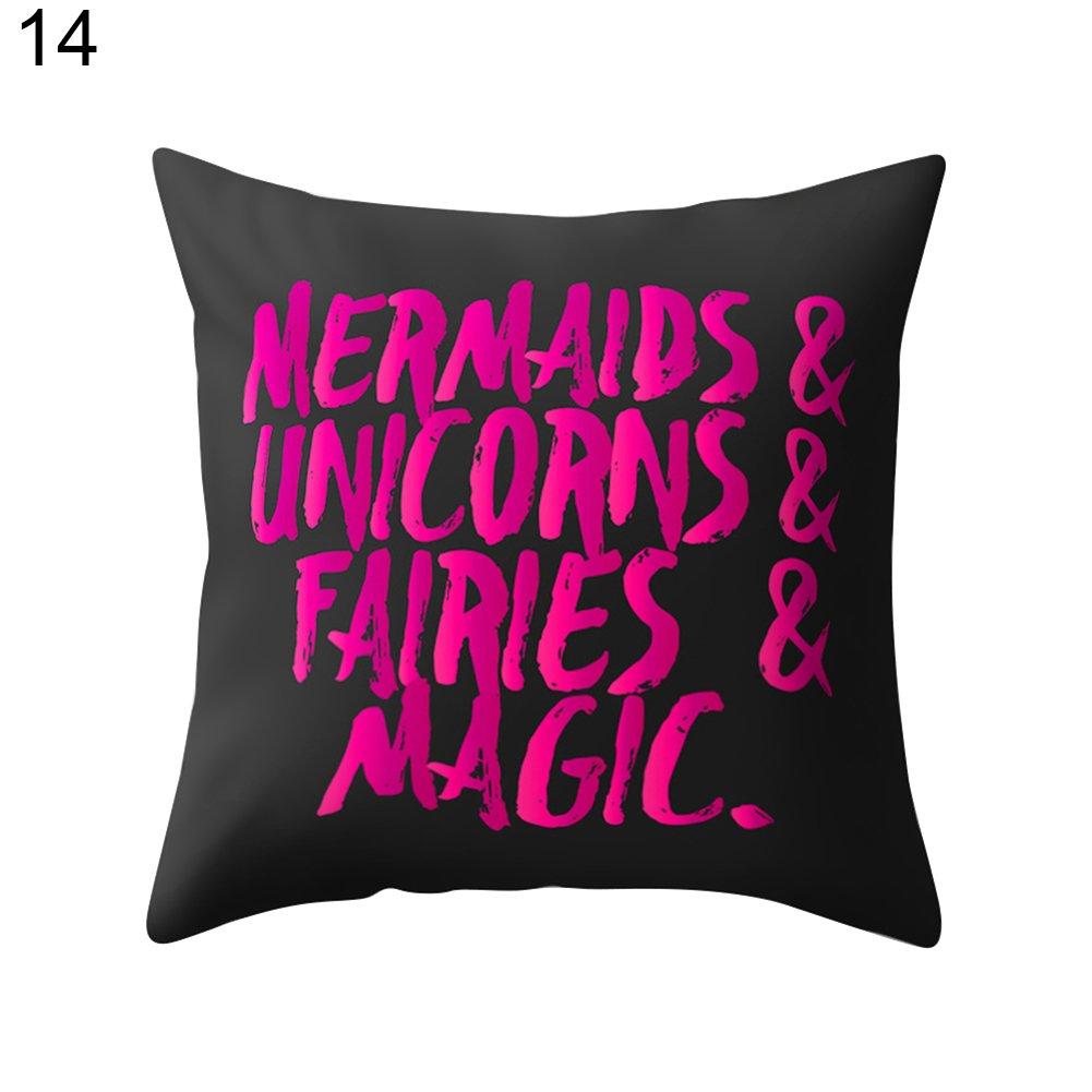 SWIDUUK Fashion Modern Home Decor Funny Letters Print Pillow Case Sofa Bed Throw Cushion Cover