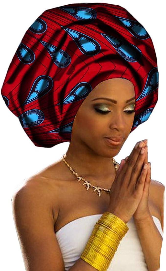 Deylaying Pañuelo para la Cabeza Bufanda Africana Algodón para ...