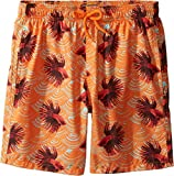 Vilebrequin Kids Boy's Sashimi Exotic Swim Trunk (Big Kids) Orange Swimsuit Bottoms